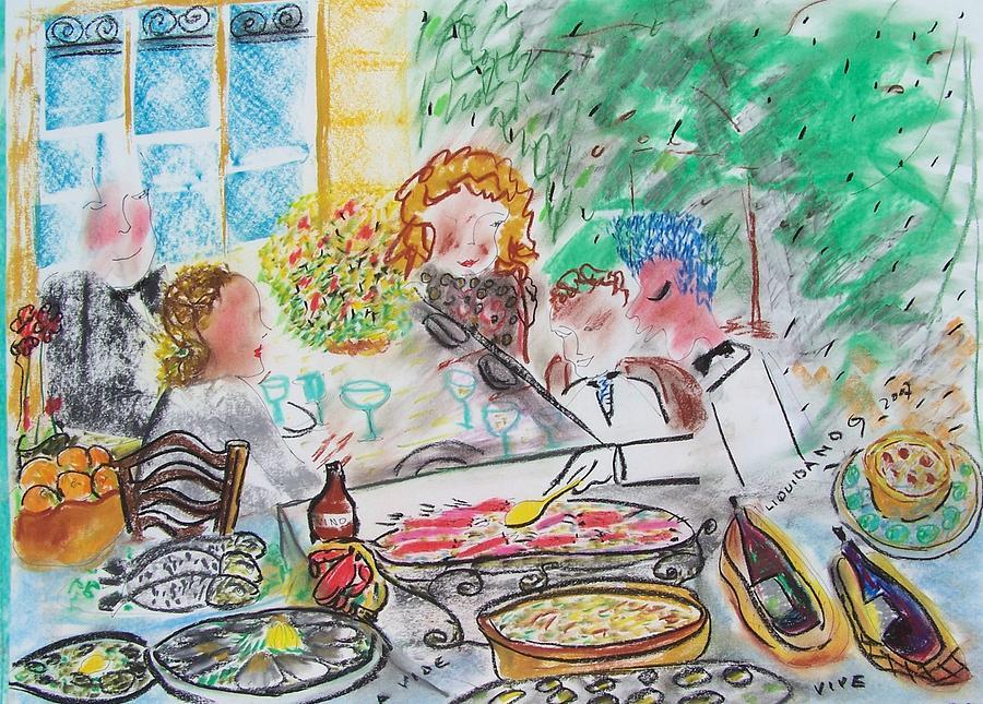 Good Life Painting - L A Buena Vida by Geraldine Liquidano