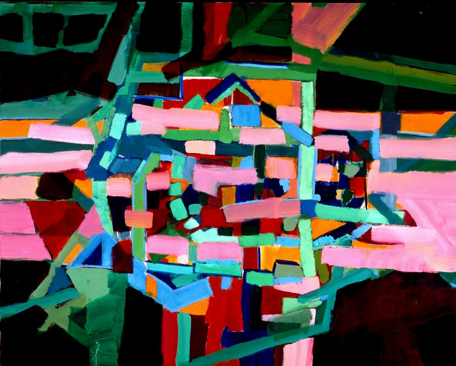 Abstract Painting - L A Landscape by Paul Freidin