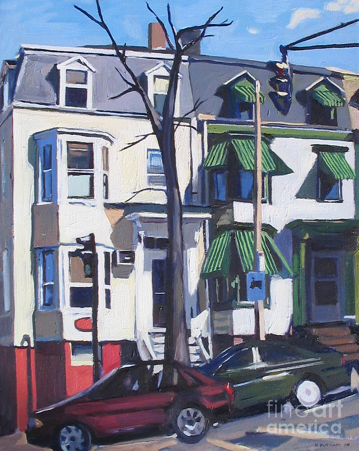Cityscape Painting - L And Broadway by Deb Putnam