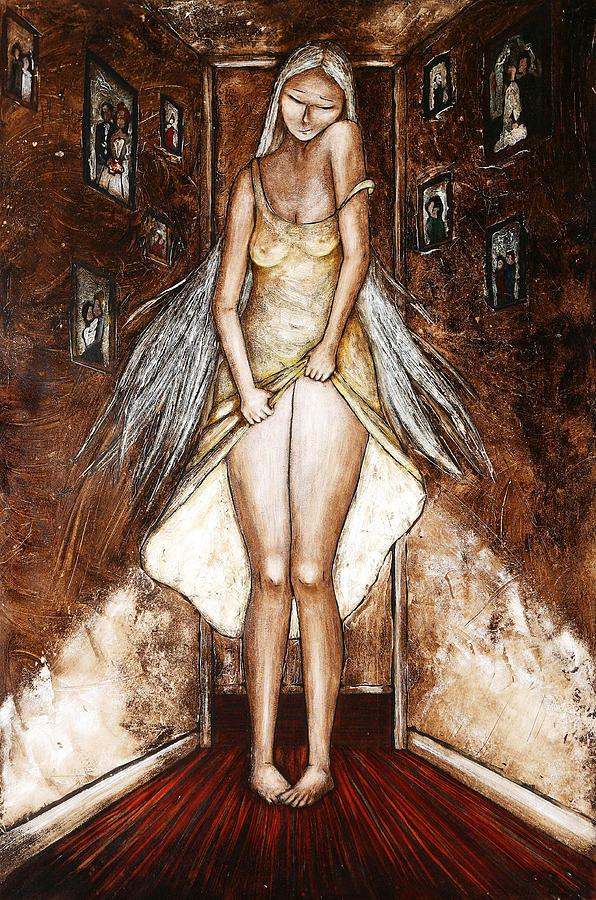 L Antre De L Entremetteuse Painting by Caroline BLANCHEMAIN