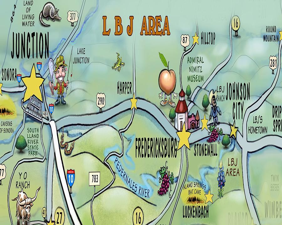 L B J  Area Digital Art