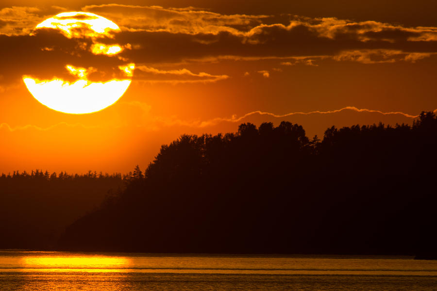 Sun Photograph - L For Ladoga by Sergei Lyssenko