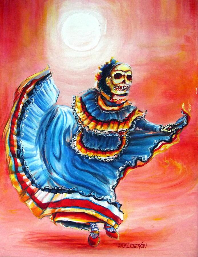 Day Of The Dead Painting - La Bailarina Del Sol by Heather Calderon