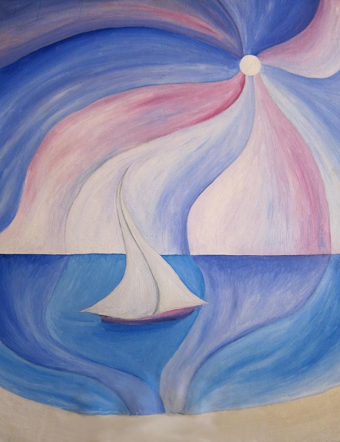 Sailing Boat Painting - La Barca A Vela by Alberto V  Donati