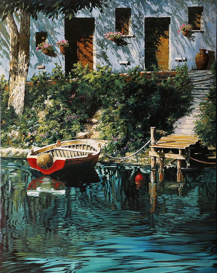 Boat Painting - La Barca Al Molo by Guido Borelli