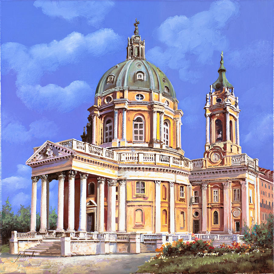 la basilica di Superga Painting