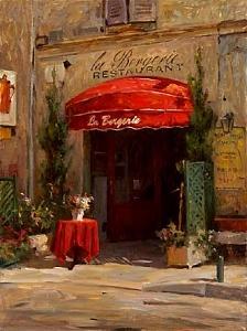 Restaurant Painting - La Bergerie by Leonard Wren