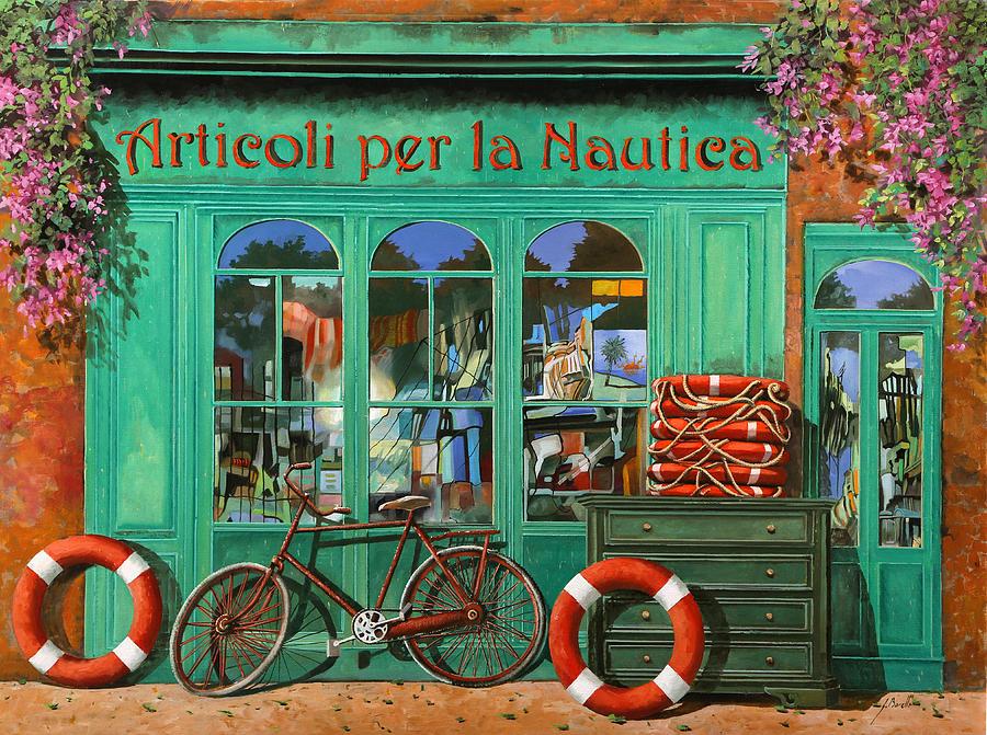 La Bicicletta Rossa Painting