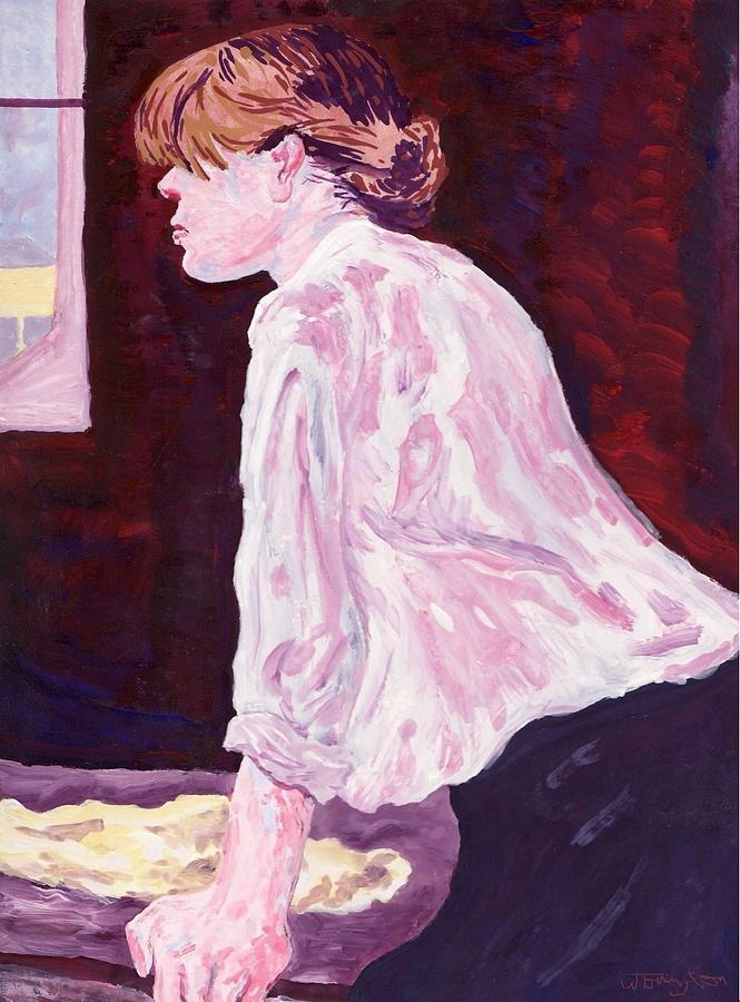 Female Figure Painting - La Blanchiseusse by Bill Torrington