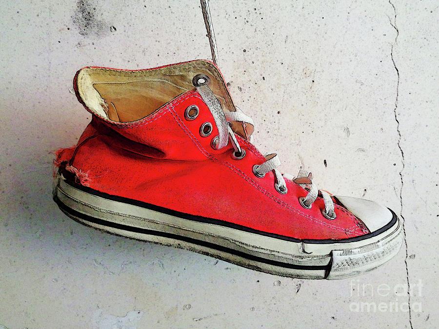 Converse All Star Photograph - The Artists Boot by Don Pedro DE GRACIA