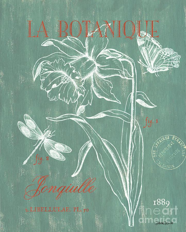 Floral Painting - La Botanique Aqua by Debbie DeWitt