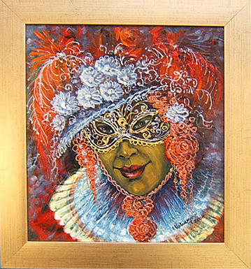 Abstract Painting - La Carnavalle by Voineagu  Ion