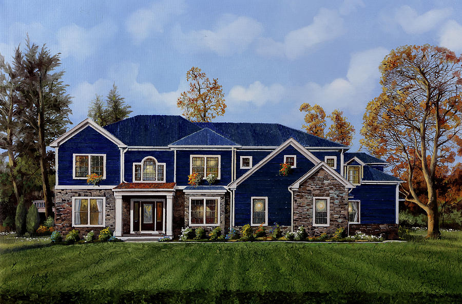La Casa Blu Oltremare Painting