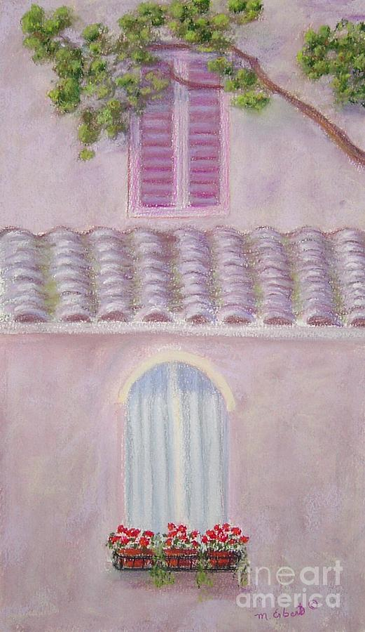 Window Boxes Painting - La Casa Rosa Lunga Il Treve by Mary Erbert