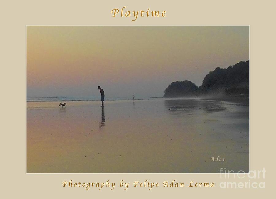 Sunset Photograph - la Casita Playa Hermosa Puntarenas Costa Rica - Playtime Crop Poster by Felipe Adan Lerma