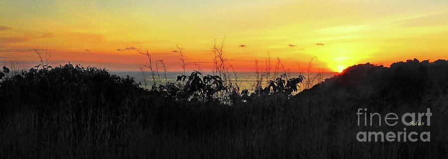 Costa Rica Photograph - la Casita Playa Hermosa Puntarenas Costa Rica - Sunset A Panorama by Felipe Adan Lerma