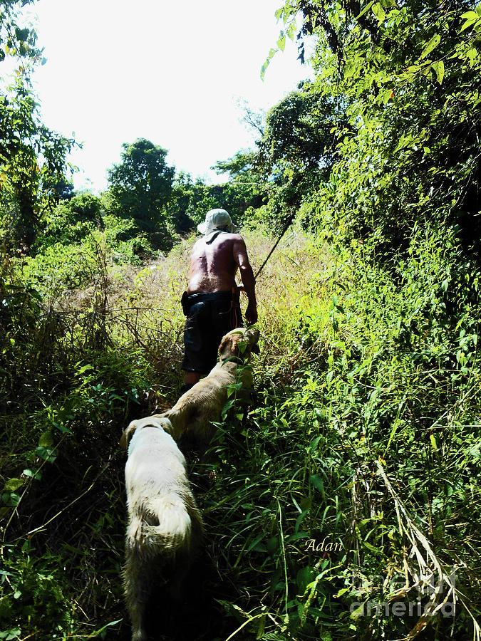 Lost Photograph - la Casita Playa Hermosa Puntarenas Costa Rica - Through the Jungle v2 by Felipe Adan Lerma