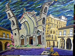 La Catedral Painting by Celestino Hernandez