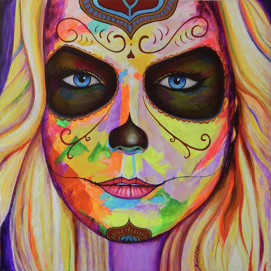 La Catrina Painting - La Catrina by Angel Ortiz