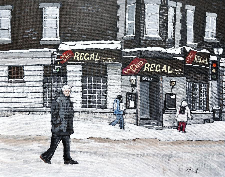 Pointe St Charles Painting - La Chic Regal Pointe St. Charles by Reb Frost