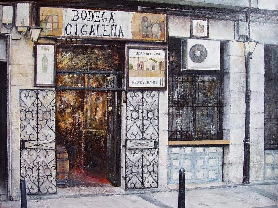 Bodega Painting - La Cigalena Old Restaurant by Tomas Castano