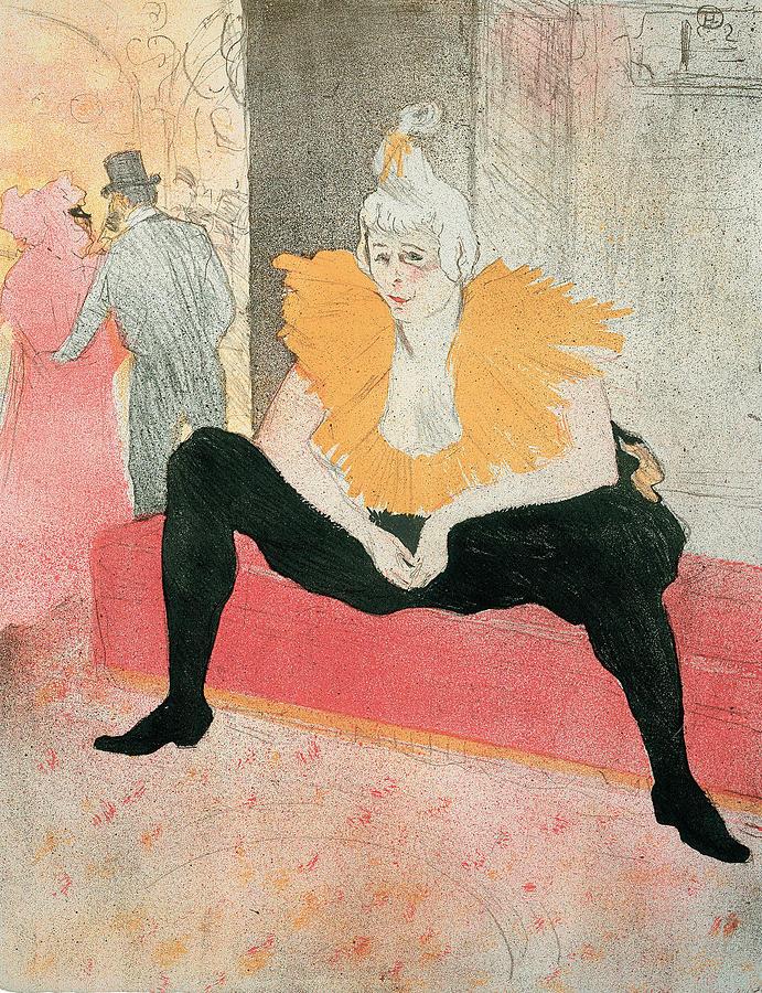 Henri De Toulouse-lautrec Drawing - La Clownesse Assise by Henri de Toulouse-Lautrec