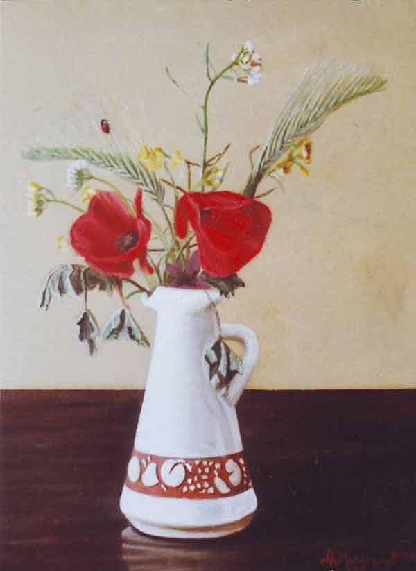 Still Life Painting - La Coccinella by Aldo Miggiano