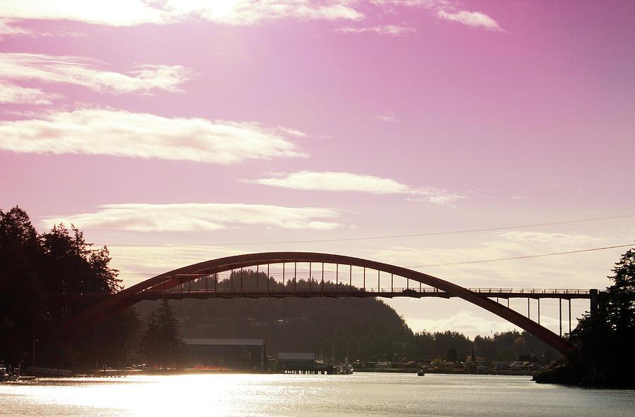 La Conner Photograph - La Conner Rainbow Bridge-  By Linda Woods by Linda Woods