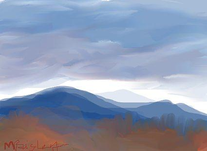 La Cueva Painting - La Cueva In Fall by Margot Paisley