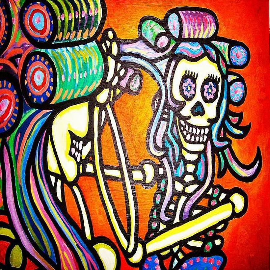 La Dama Painting by Oscar Galvan