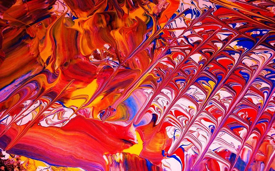 Modern Abstract Painting - La Donna-detail by Adolfo hector Penas alvarado