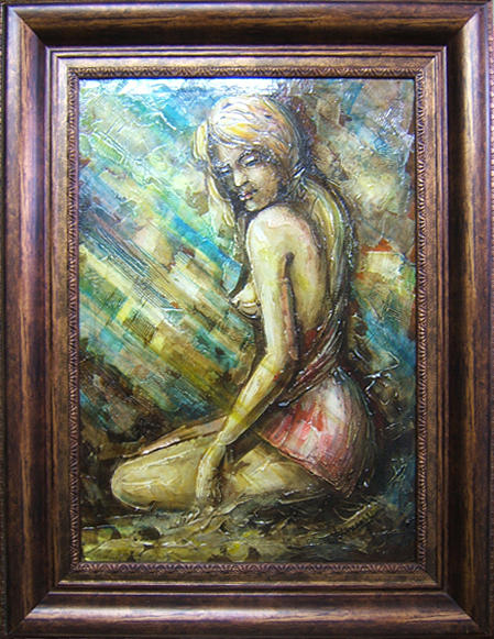 Abstract Painting - la Donna by Voineagu  Ion