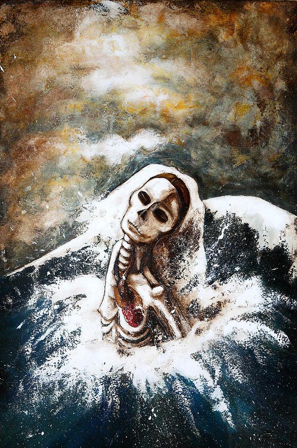 La Femme Squelette Painting by Caroline BLANCHEMAIN