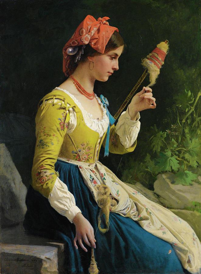 La Filatrice Painting