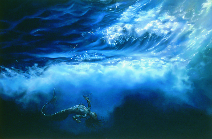 Marina Painting - La Fin Des Illusions by Helene Fleury