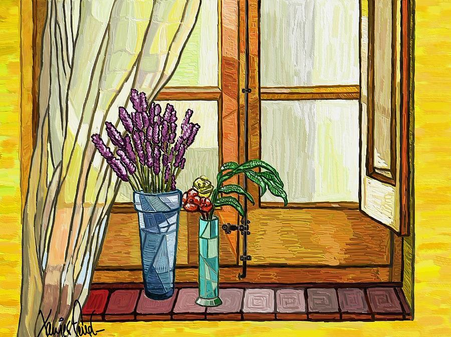Still Life Painting - La Finestra by Xavier Ferrer