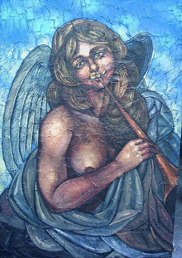 La Flauta Painting by Yiroshi Toujagv