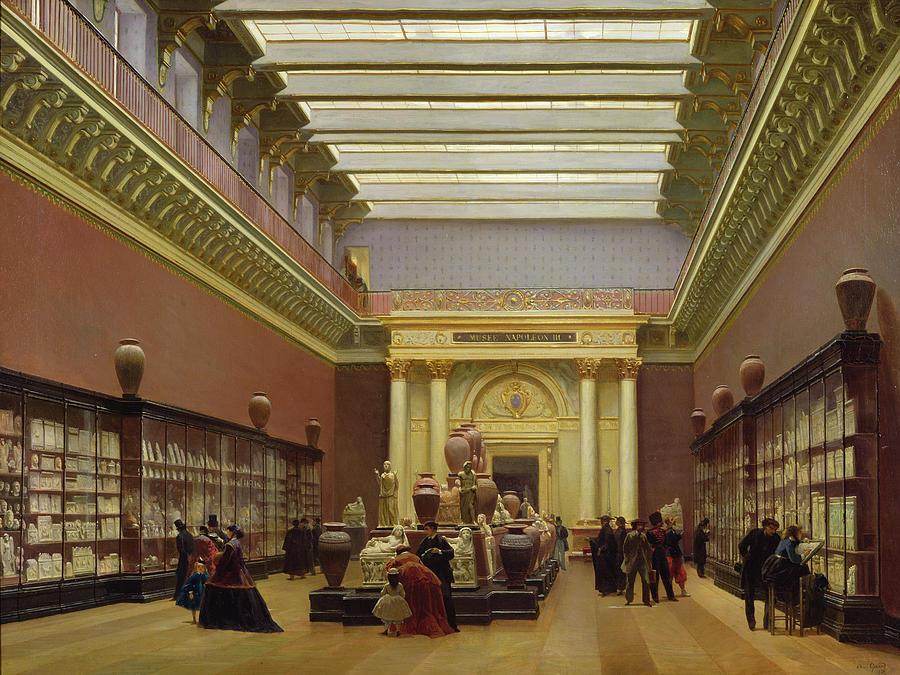 Galerie Painting - La Galerie Campana by Charles Giraud