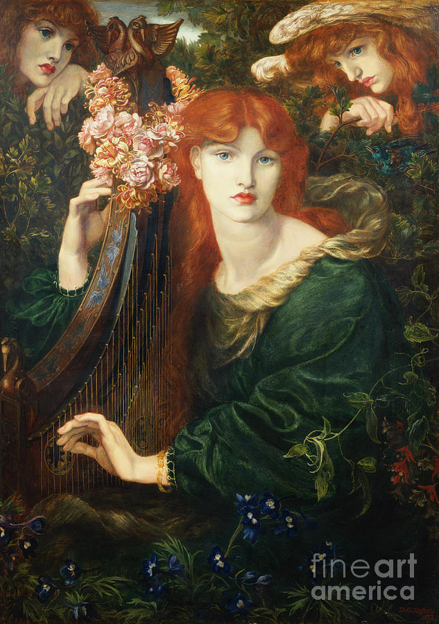 Redhead Painting - La Ghirlandata by Dante Charles Gabriel Rossetti