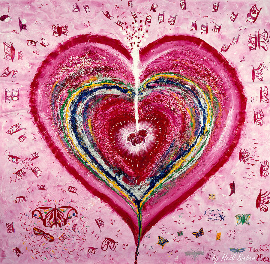 Heart Painting - La Gioia by Heidi Sieber