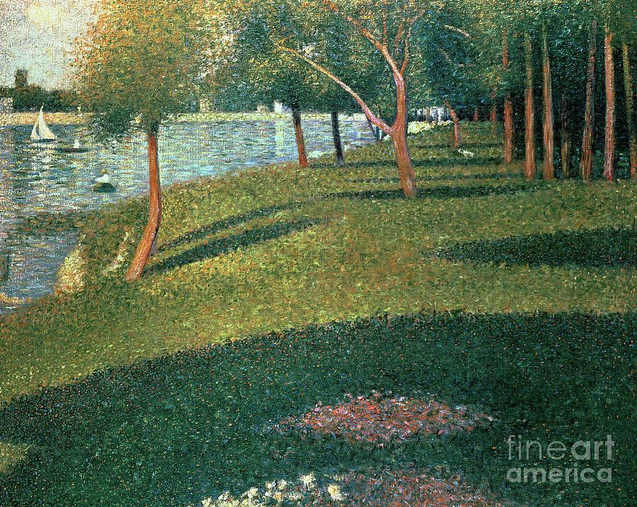 Famous Painting - La Grande Jatte by Georges Pierre Seurat