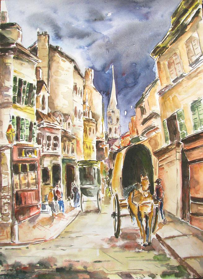 France Painting - La Grande Rue Argenteuil. After Alfred Sisley by Sagnik Datta