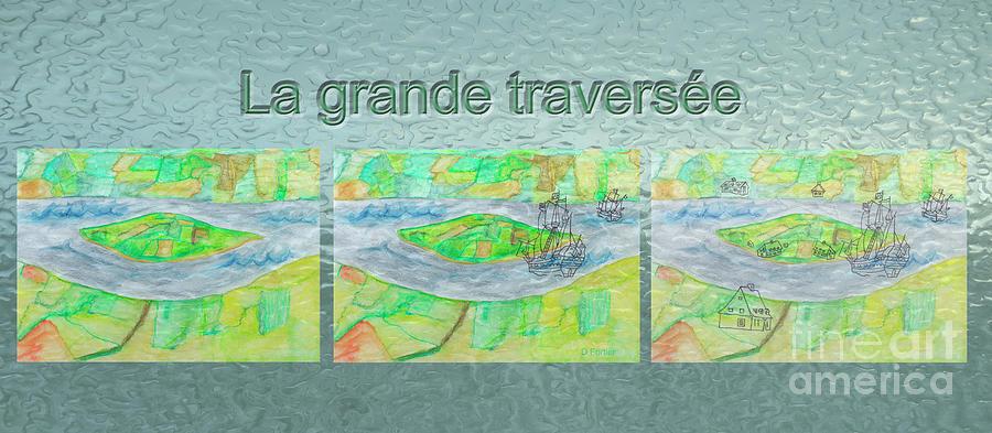 Island Pyrography - La Grande Traversee Mug Shot by Dominique Fortier