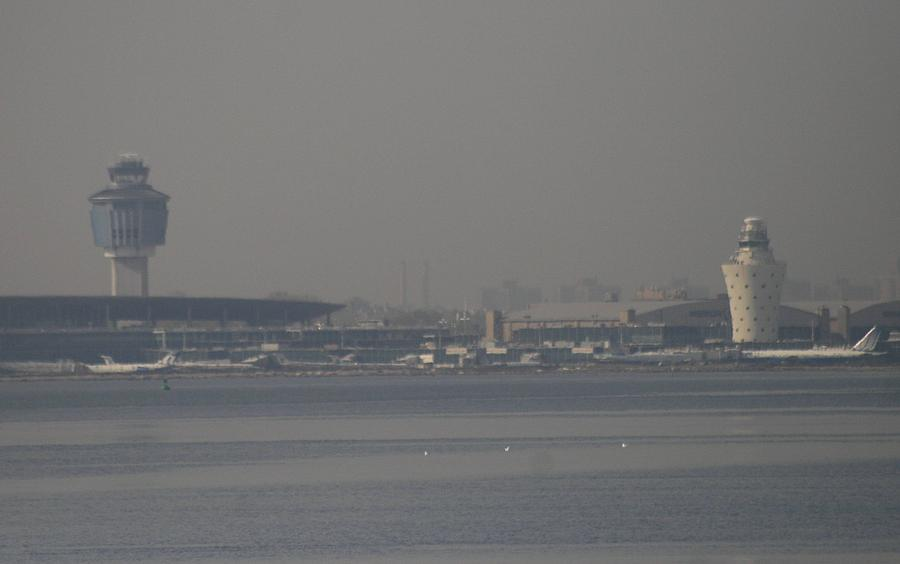 La Guardia Airport Photograph - La Guardia From The Bronx by Christopher Kirby