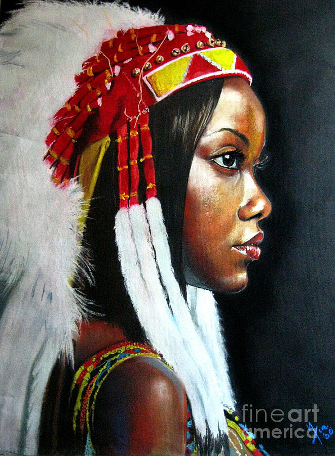 Portrait Painting - La India by Yxia Olivares