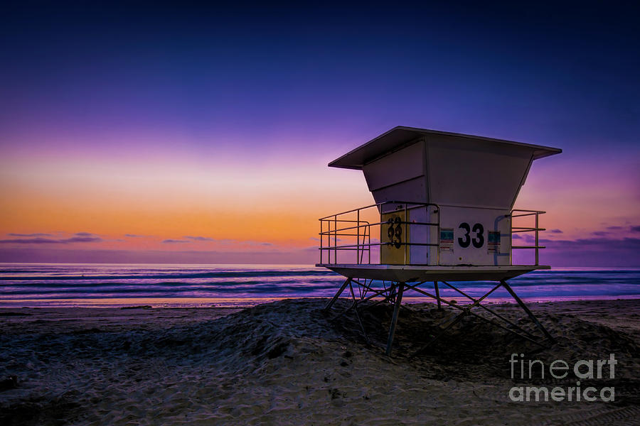 La Jolla Photograph - La Jolla Beach Sunset by Ken Johnson