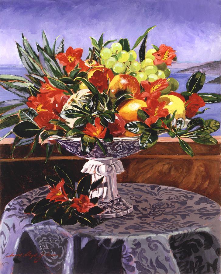 Flowers Painting - La Jolla Christmas by David Lloyd Glover