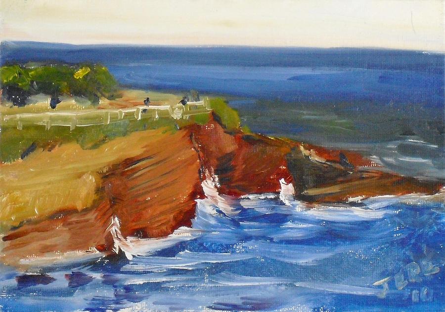 Landscape Painting - La Jolla Cove 017 by Jeremy McKay