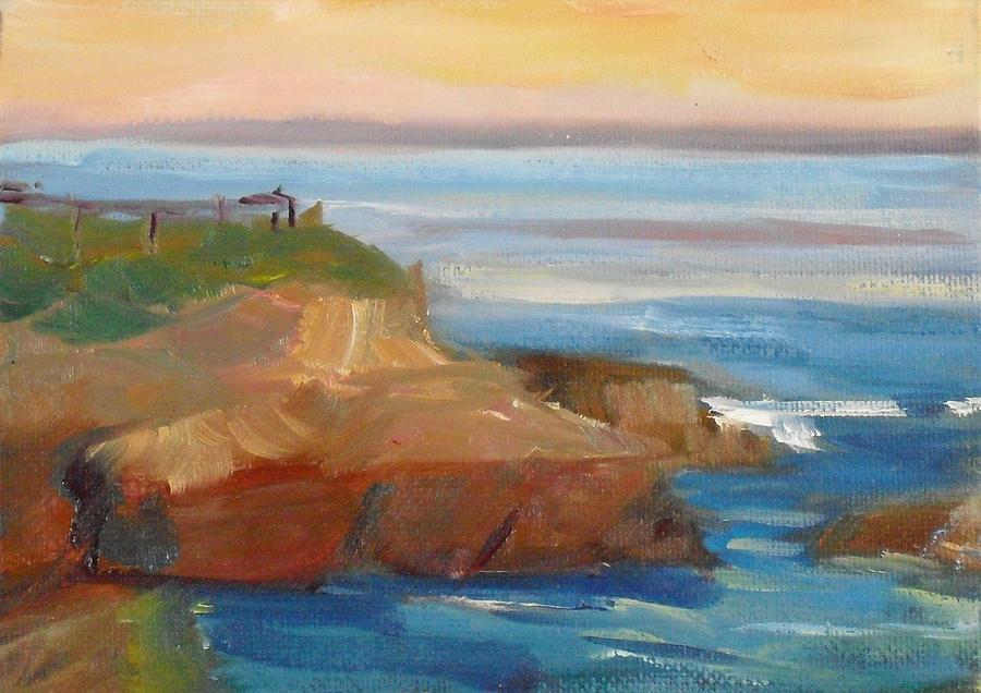 Landscape Painting - La Jolla Cove 018 by Jeremy McKay