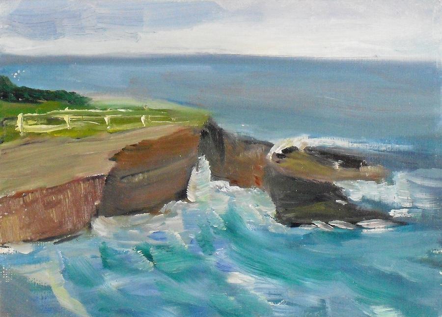 Landscape Painting - La Jolla Cove 020 by Jeremy McKay